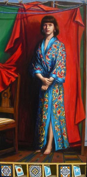 """La Dama: The Sun, The Moon & The Stars"" (oil on Belgian linen) by Lydia Martin"