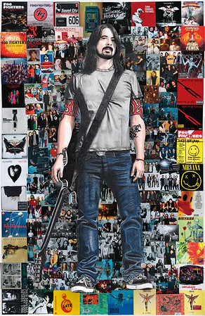 """""""(Extra)Ordinary Hero"""" (collage colour pencil) by Steven Hart"""