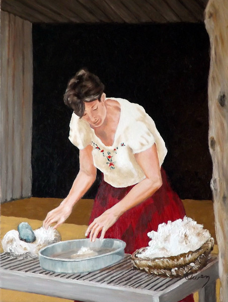 """Wool Cleaner"" (oil on canvas) by Carl Owen"