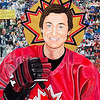 """Saint Gretzky"" (collage colour pencil) by Steven Hart"