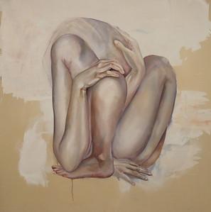 """psychological self portrait"" (oil on canvas ) by Michelle Fair"