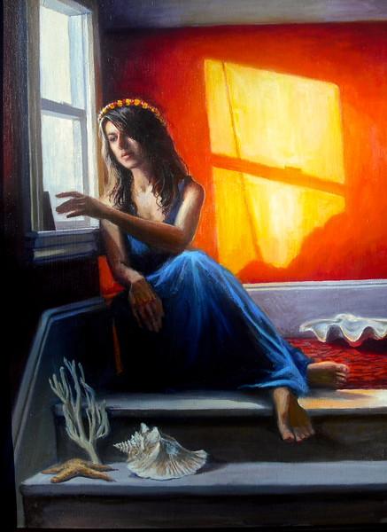 """La Sirena"" (oil paint on Belgian linen) by Lydia Martin"