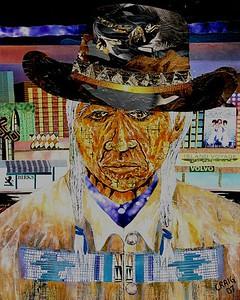 """Uptown Elder"" (mixed media) by Bob Craig"