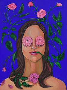 """She Speaks the Truth"" (acrylic) by Alison Brockel"