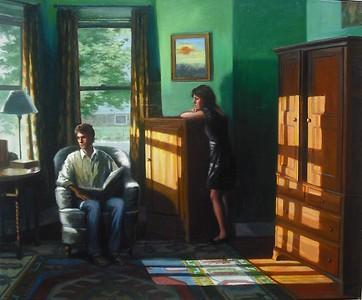 """El Sol"" (oil paint on Belgian linen) by Lydia Martin"