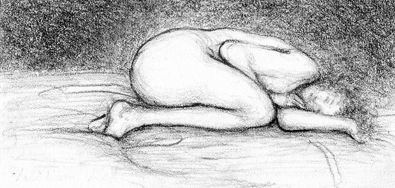 """""""Alone"""" (graphite on paper) by William Reed"""