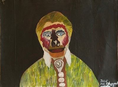 """TORTURED SOUL"" (acrylic on linen) by Dee Bullmann"