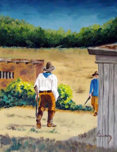 """""""Riflemen"""" (oil on canvas) by Carl Owen"""