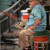 """""""Sitting Fisherman"""" (oil) by Michele Guttenberg"""