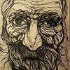 """Adamant"" (liquid ink rolling ball pen) by Olga Doronina"