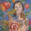 """""""Garnets"""" (canvas, tempera) by Alexandra Kalinicheva"""