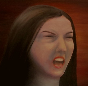 """Silent scream"" (oil on canvas) by Natalia Kornienko"