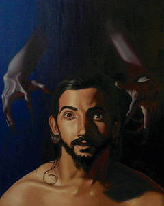 """Devil's Child Damien"" (oil on canvas) by Emily Kontelis"