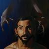 """Devil's Child Damien"" (oil on canvas) by Emily Kontelis"