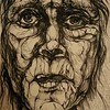 """Agony"" (liquid ink rolling ball pen) by Olga Doronina"