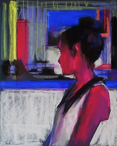 """Talking About Me"" (pastel) by Yael Maimon"