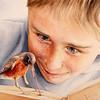 """Bookworm Breakfast"" (transparent watercolour) by Ona Kingdon"