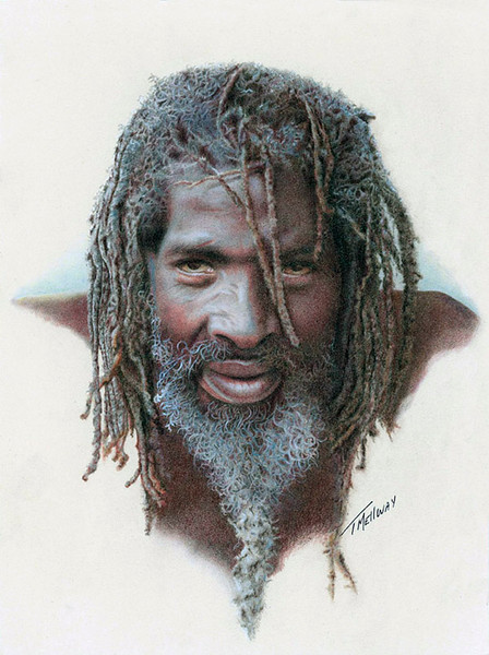 """Jamaican"" (colored pencil) by Terry Mellway"