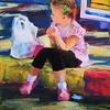 """""""Alice Alone"""" (pastel) by Yael Maimon"""