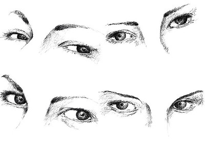 """Looking eyes"" (digital drawing) by António Castilho"