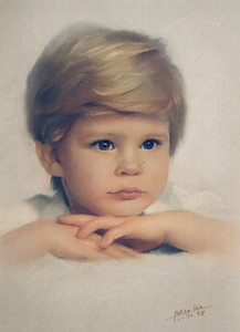 """A Boy"" (pastel) by Mei He"