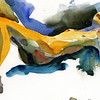 """Reclining Thoughts"" (watercolor) by Barry Sayewitz"