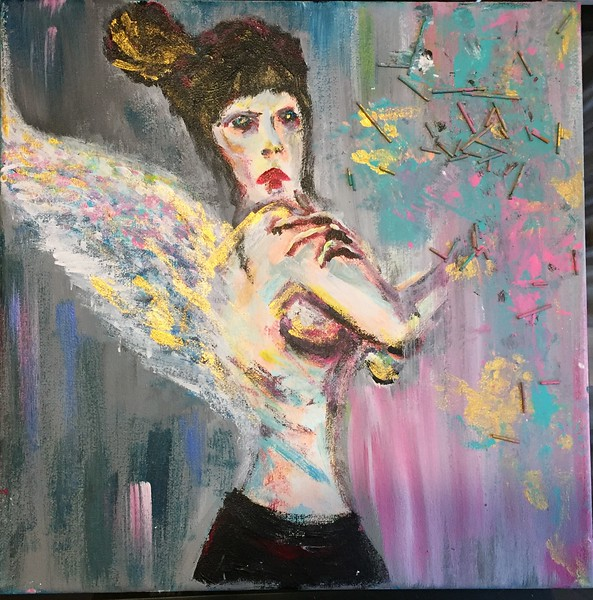 """Barmacide Angel"" (acrylic) by Melis Lambrix"
