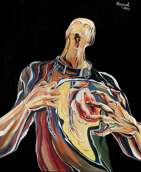 """Self-sacrifice"" (oil on canvas) by Stanislav Bogdanov"