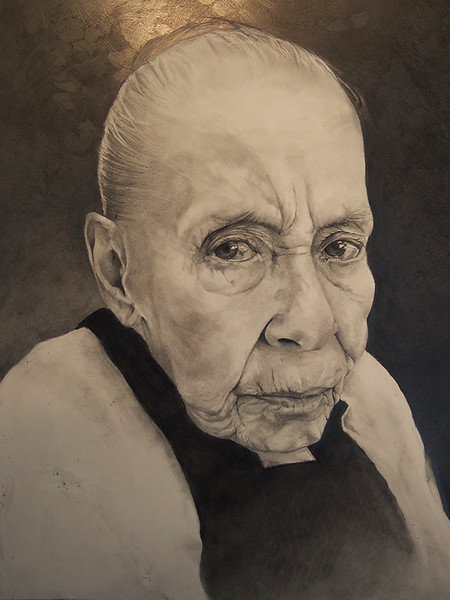 """Compassionate, always"" (graphite) by Gwen Manfrin"