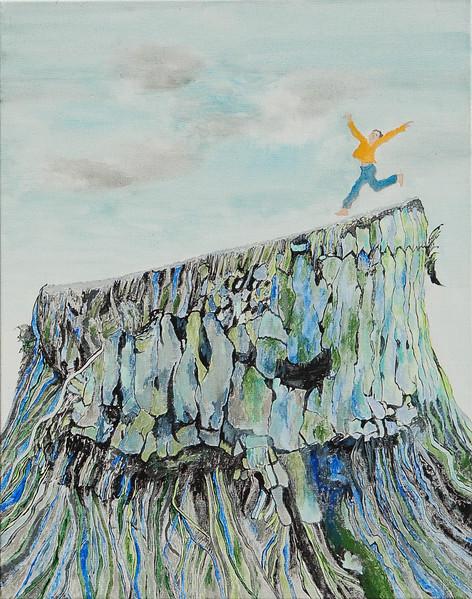 """""""Joy"""" (acrylic) by Tricia Hoye"""