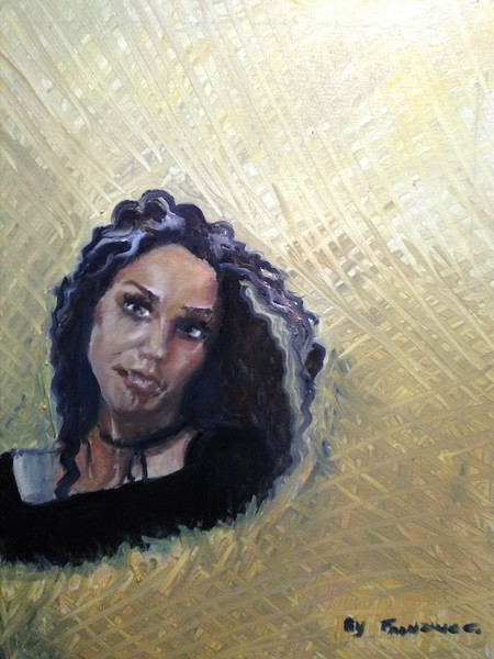 """""""A moment of youth"""" (oil on linen) by Francisca Caballero"""