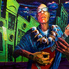 """The Unstrung Ukulele Of Despair"" (acrylic) by Andy Tubbesing"