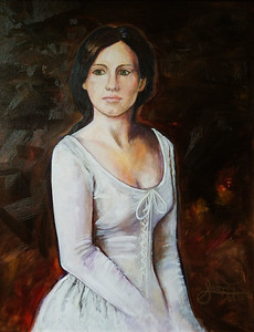 """Amelia"" (oil on canvas) by Shauna Britt"