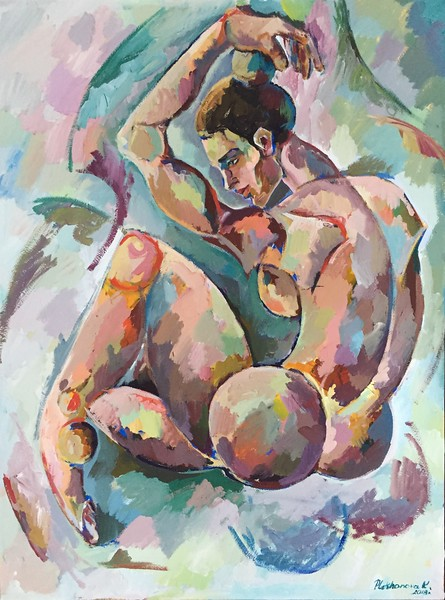 """WOMEN in CUB"" (tempera on paper) by Katerina Plekhanova"