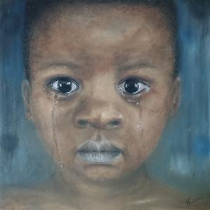 """Baby's Grief"" (pastel) by Natalia Kupreychenko"