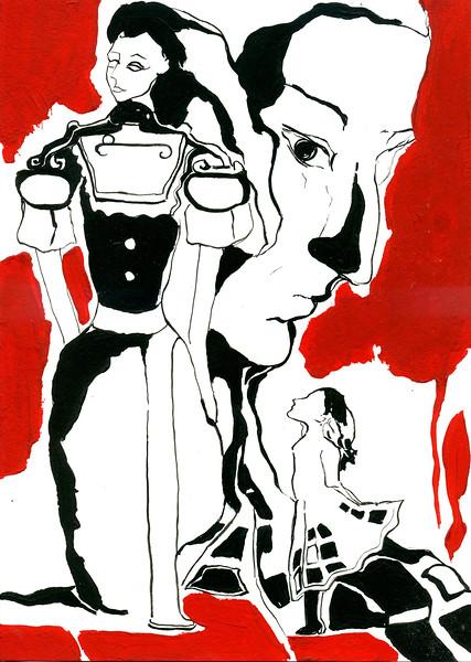 """Сonsciousness of a child"" (acrylic on paper) by Iana Mikhailova"