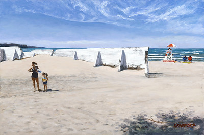 """Beach Day"" (oil on linen) by Paul Brinkworth"