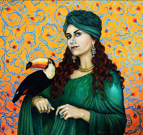 """""""Emerald"""" (oil on canvas) by Marina Mariarty"""