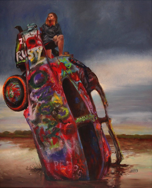 """""""On Top of the World"""" (oil) by Debra Keirce"""
