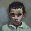 """Trapped childhood (right)"" (oil) by Dmitry Fesechko"