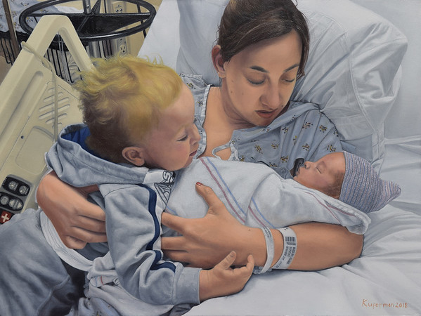 """Motherly Love"" (oil on linen) by Eugene Kuperman"