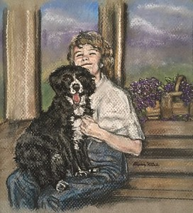 """Best Friends"" (pastel) by Diann Klink"