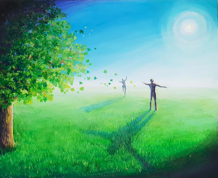 """""""Free"""" (acrylic on canvas) by Ekaterina Andreeva"""