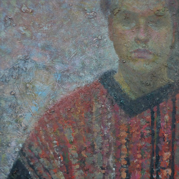 """A Stranger (Self-portrait)"" (oil on linen) by Arseniy Melnyk"