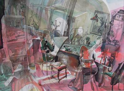 """A State"" (watercolor) by Mariya Zyurkalova"