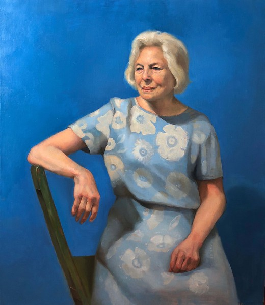 """Lady in Blue"" (oil on canvas) by Taehyub Lee"