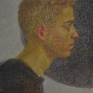 """A look into the darkness (Brother portrait)"" (oil on canvas) by Arseniy Melnyk"