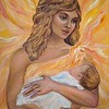 """Mother of the Sun"" (oil on canvas) by Nadezda Tarasova"