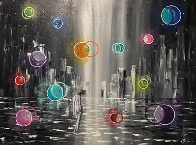 """Passage"" (acrylic and mixed media on canvas) by Vivian Antonini"
