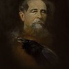 """Charles Dickens"" (oil on canvas) by Tais Nikitenko"